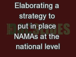 Ivory Coast: Elaborating a strategy to put in place NAMAs at the national level