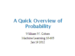 A Quick Overview of Probability