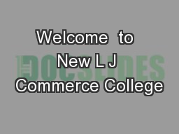 Welcome  to  New L J Commerce College