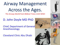 Airway Management Across the Ages. PowerPoint PPT Presentation
