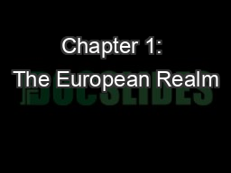 Chapter 1: The European Realm