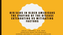 HIV/AIDS in Older Americans PowerPoint PPT Presentation