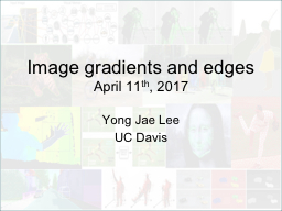 Image gradients and edges