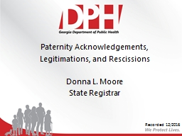 Paternity Acknowledgements,