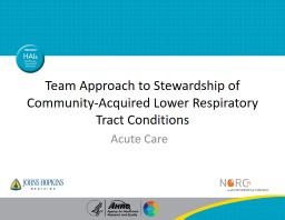 Team Approach to Stewardship of Community-Acquired Lower Respiratory Tract Conditions