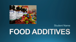 FOOD ADDITIVES  Student Name
