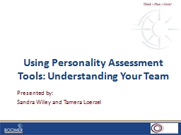 Using Personality Assessment Tools: Understanding Your Team