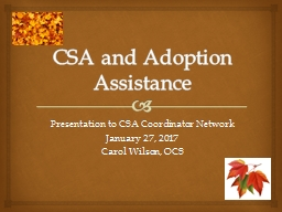 CSA and Adoption Assistance