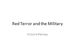 Red Terror and the Military