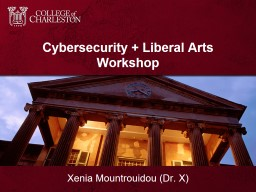 Cybersecurity   Liberal Arts