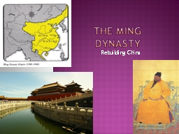 The Ming Dynasty Rebuilding China