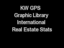 KW GPS  Graphic Library International Real Estate Stats PowerPoint PPT Presentation