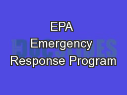 EPA Emergency Response Program PowerPoint Presentation, PPT - DocSlides