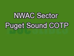 NWAC Sector Puget Sound COTP