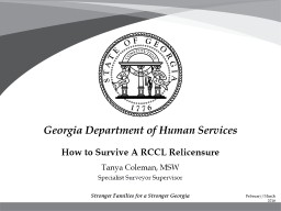 How to Survive A RCCL Relicensure