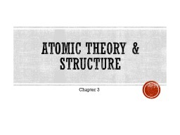 Atomic Theory & Structure