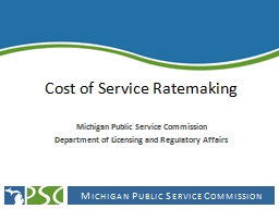 Cost of Service Ratemaking
