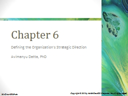 Chapter 6 Defining the Organization's Strategic Direction