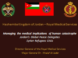 Hashemite Kingdom of Jordan – Royal Medical Services PowerPoint PPT Presentation