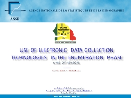 Use of electronic data collection technologies in the enumeration phase
