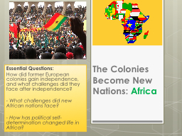 The Colonies Become New Nations: