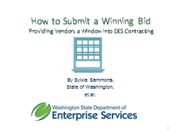 How to Submit a Winning Bid PowerPoint PPT Presentation