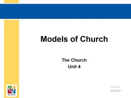 Models of Church The Church PowerPoint PPT Presentation