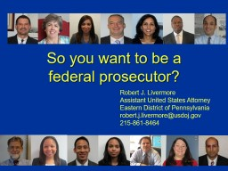 So you want to be a  federal prosecutor?