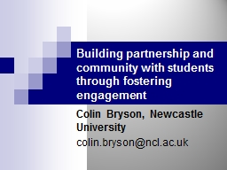 Building partnership and community with students through fostering engagement