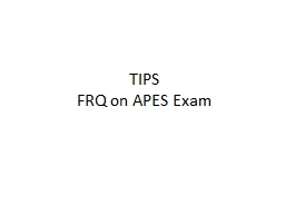 TIPS FRQ on APES Exam   The APES Exam