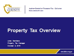 Property Tax Overview PowerPoint PPT Presentation