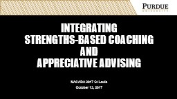 Integrating  strengths-based coaching