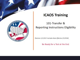 ICAOS Training 101-Transfer &