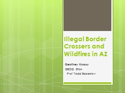 Illegal Border  Crossers and