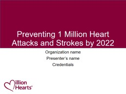 Preventing 1 Million Heart Attacks and Strokes by 2022 PowerPoint PPT Presentation