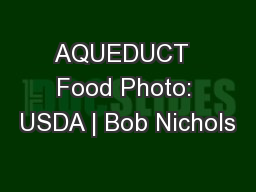 AQUEDUCT  Food Photo: USDA | Bob Nichols