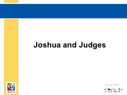 Joshua and Judges Document#: TX004707