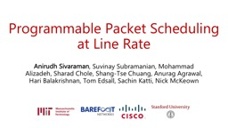 Programmable Packet Scheduling at Line Rate