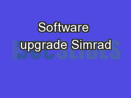 Software upgrade Simrad