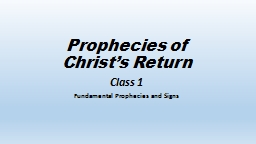 Prophecies of Christ's Return
