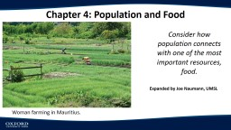 Chapter 4: Population  and Food