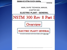 BACKGROUND NSTM   300 was completely re-written to clarify and update requirements for today�s in
