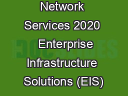 Network Services 2020   Enterprise Infrastructure Solutions (EIS)