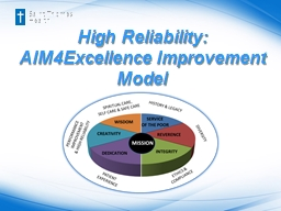 High Reliability: AIM4Excellence Improvement Model