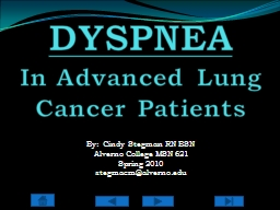 DYSPNEA   In Advanced Lung Cancer Patients