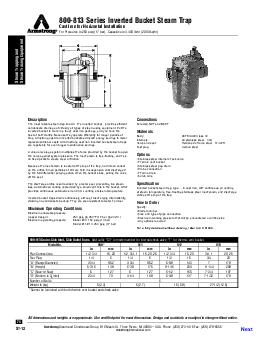 Steam Trapping and Steam Tracing Equipment   armstrong  Designs materials weights and performance ratings are approximate and subject to change without notice