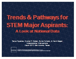 Trends  &  Pathways for STEM Major Aspirants: