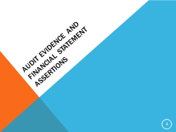 Audit evidence and financial statement assertions