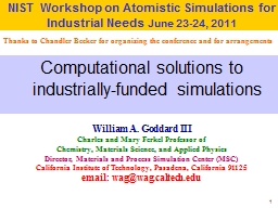1 Computational solutions to industrially-funded simulations
