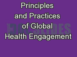 Principles and Practices of Global Health Engagement
